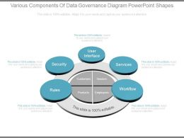 Various Components Of Data Governance Diagram Powerpoint Shapes