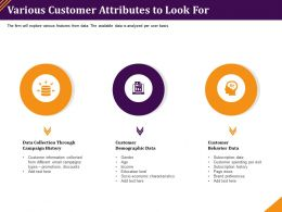 Various Customer Attributes To Look For Campaign History Ppt Powerpoint Portfolio