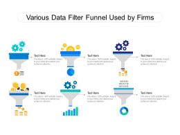 Various Data Filter Funnel Used By Firms