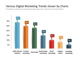Various Digital Marketing Trends Shown By Charts