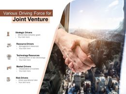 Various Driving Force For Joint Venture