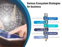 Various Ecosystem Strategies For Business