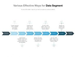 Various Effective Ways For Data Segment
