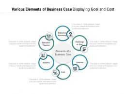 Various Elements Of Business Case Displaying Goal And Cost
