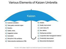 Various Elements Of Kaizen Umbrella