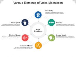 Various Elements Of Voice Modulation