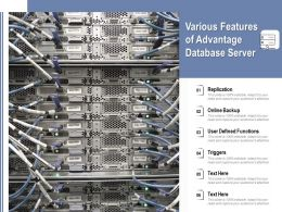 Various Features Of Advantage Database Server
