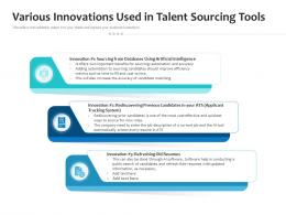 Various Innovations Used In Talent Sourcing Tools