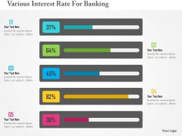Various Interest Rate For Banking Flat Powerpoint Design