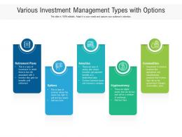 Various Investment Management Types With Options