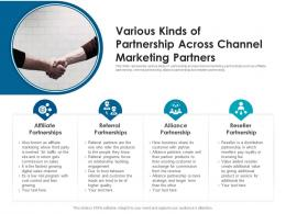Various Kinds Of Partnership Across Channel Marketing Partners