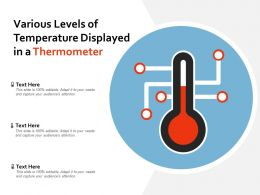 Various Levels Of Temperature Displayed In A Thermometer