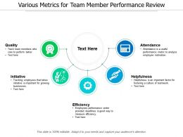 Various Metrics For Team Member Performance Review