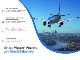 Various Migration Reasons With Natural Calamities