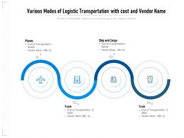 Various Modes Of Logistic Transportation With Cost And Vendor Name