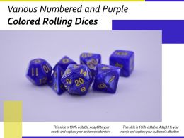 Various Numbered And Purple Colored Rolling Dices