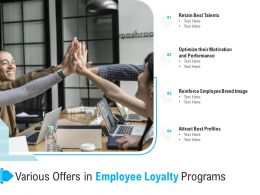 Various Offers In Employee Loyalty Programs