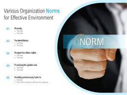 Various Organization Norms For Effective Environment