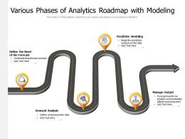 Various Phases Of Analytics Roadmap With Modeling