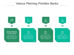 Various Planning Priorities Banks Ppt Powerpoint Presentation Inspiration Slide Download Cpb