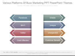 Various Platforms Of Buzz Marketing Ppt Powerpoint Themes