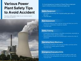 Various Power Plant Safety Tips To Avoid Accident