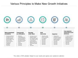 Various Principles To Make New Growth Initiatives