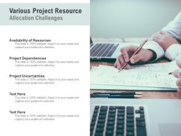 Various Project Resource Allocation Challenges
