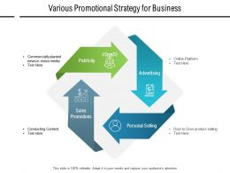 Various Promotional Strategy For Business