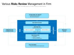 Various Risks Review Management In Firm