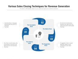 Various Sales Closing Techniques For Revenue Generation