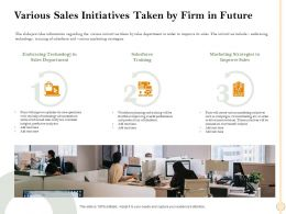 Various Sales Initiatives Taken By Firm In Future These Ppt Powerpoint Presentation File Clipart