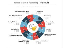 Various Stages Of Accounting Cycle Puzzle