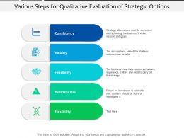 Various Steps For Qualitative Evaluation Of Strategic Options