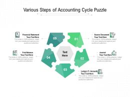 Various Steps Of Accounting Cycle Puzzle