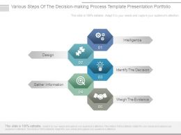 Various Steps Of The Decision Making Process Template Presentation Portfolio