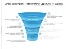 Various Steps Pipeline To Identify Market Opportunity For Business