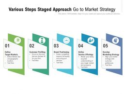 Various Steps Staged Approach Go To Market Strategy