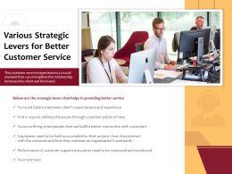 Various Strategic Levers For Better Customer Service