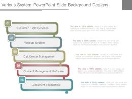 Various System Powerpoint Slide Background Designs