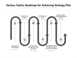 Various Tactics Roadmap For Achieving Strategy Plan
