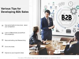 Various Tips For Developing B2b Sales