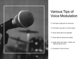 Various Tips Of Voice Modulation