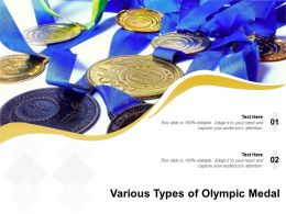 Various Types Of Olympic Medal