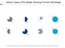 Various Types Of Pie Shape Showing Full And Half Shape