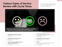 Various Types Of Service Review With Cycle Times