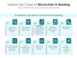 Various Use Cases Of Blockchain In Banking