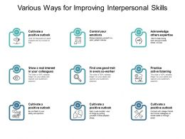 Various Ways For Improving Interpersonal Skills