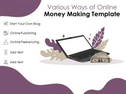 Various Ways Of Online Money Making Template