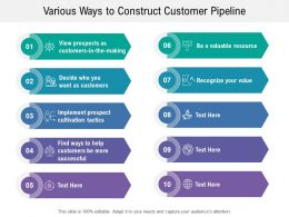 Various Ways To Construct Customer Pipeline